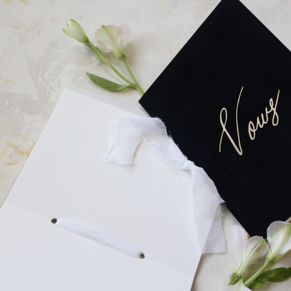 Black Calligraphy Vow Book