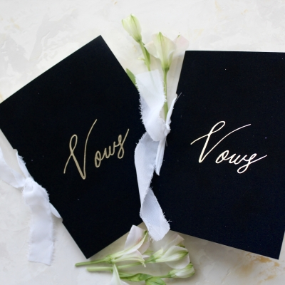 Gold Foil Vow Book