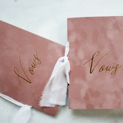 Dusty Rose Vow Book